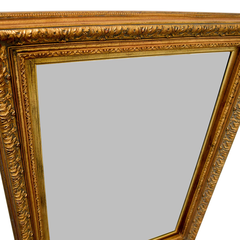 buy Gold Rectangle Mirror Decor