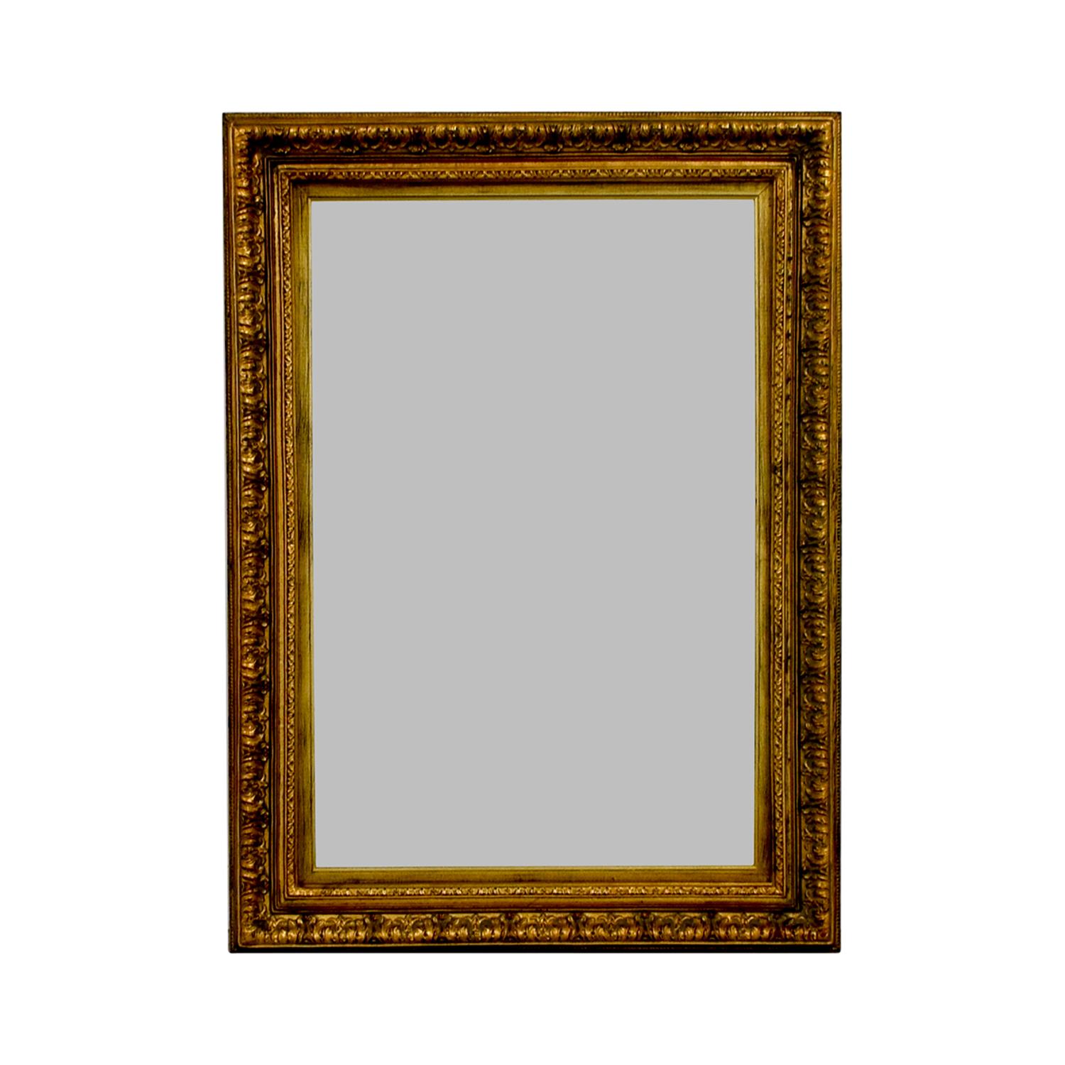 Gold Rectangle Mirror Decor