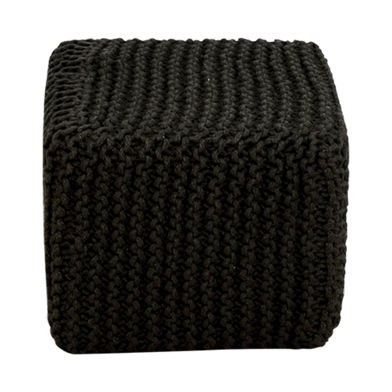 buy Anji Jute Dark Gray Square Ottoman Anji Jute Chairs