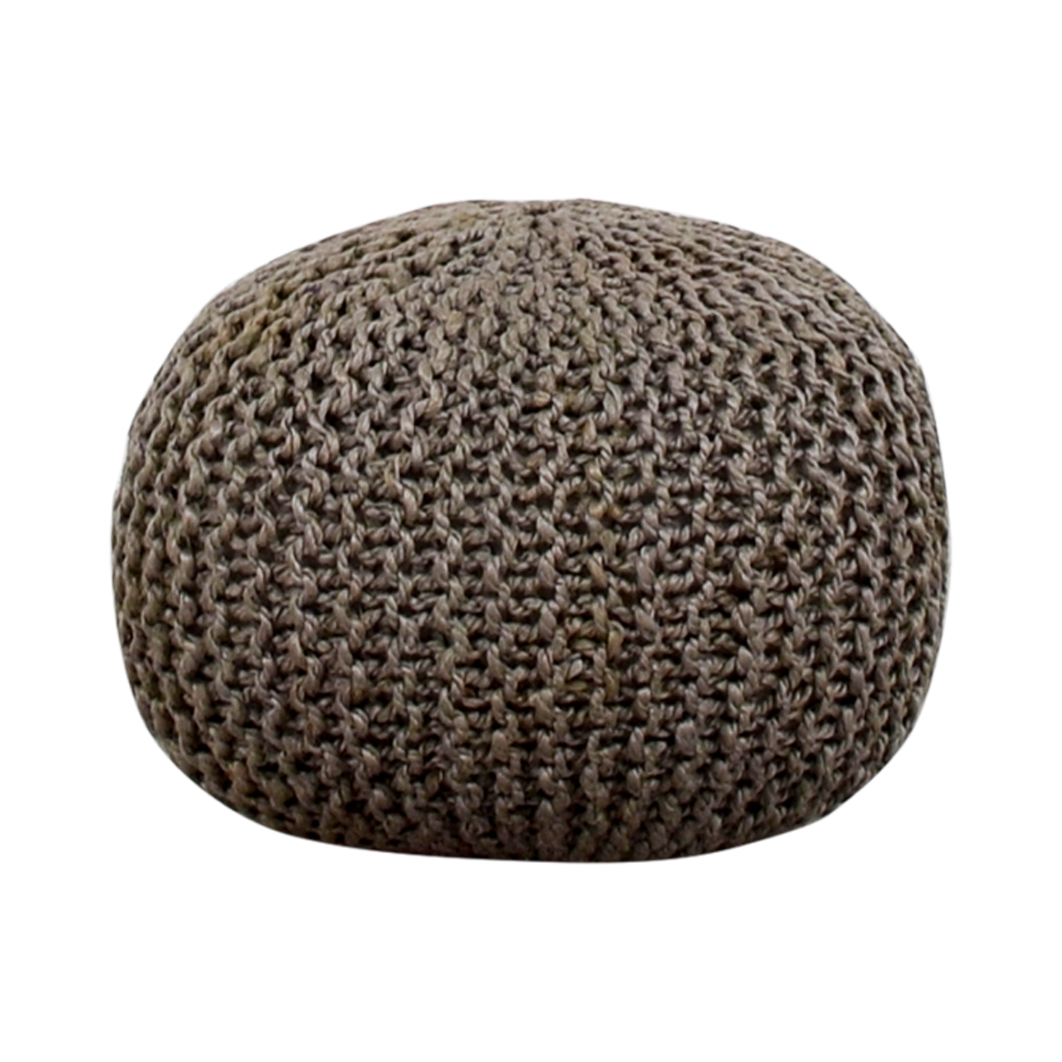 Beachcrest Pouf Beachcrest Pouf Gray Round Ottoman for sale
