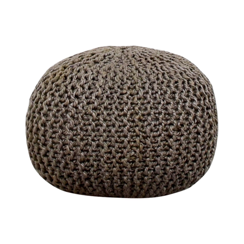 Beachcrest Pouf Beachcrest Pouf Gray Round Ottoman gray