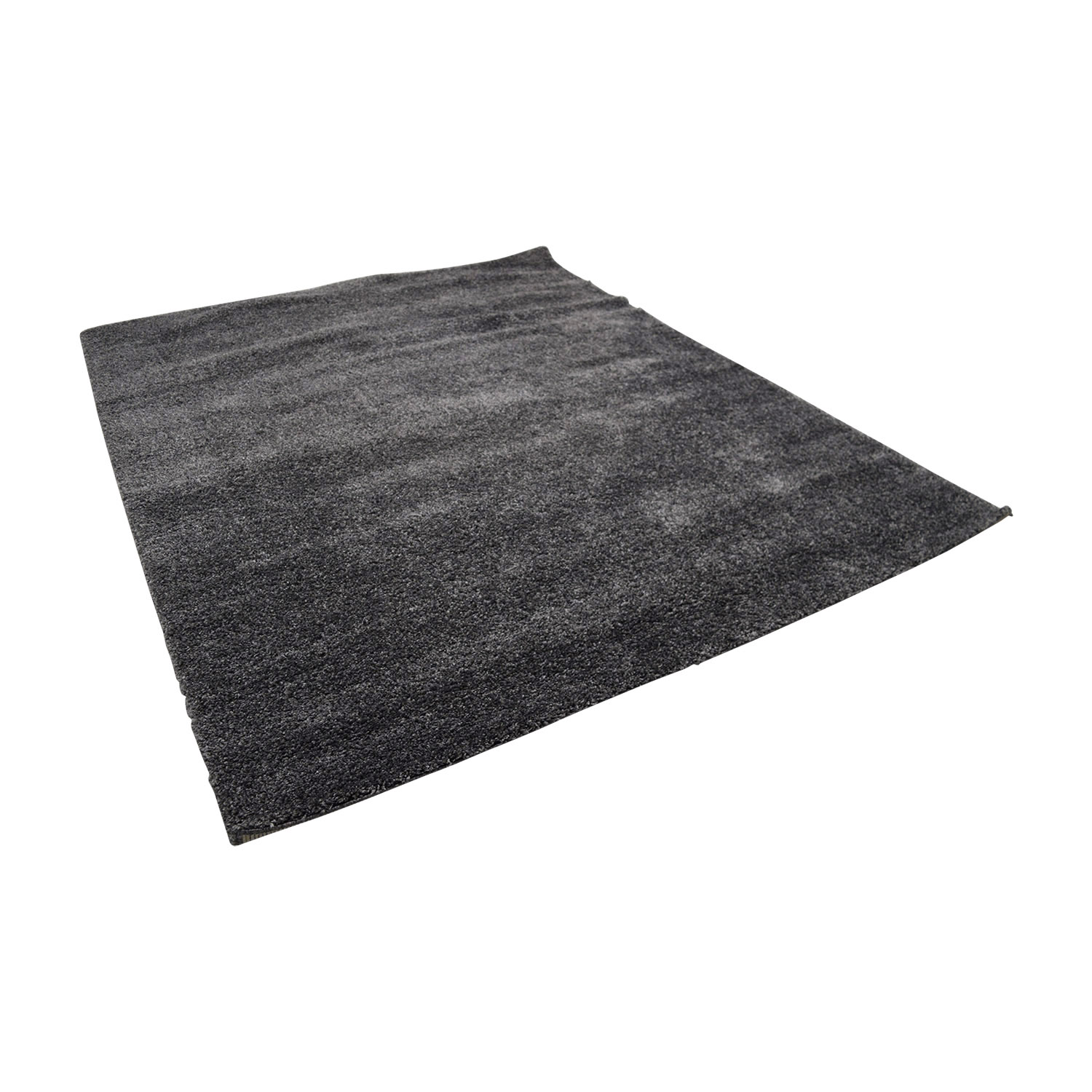shop Braided Dark Gray Rectangle Rug Rugs