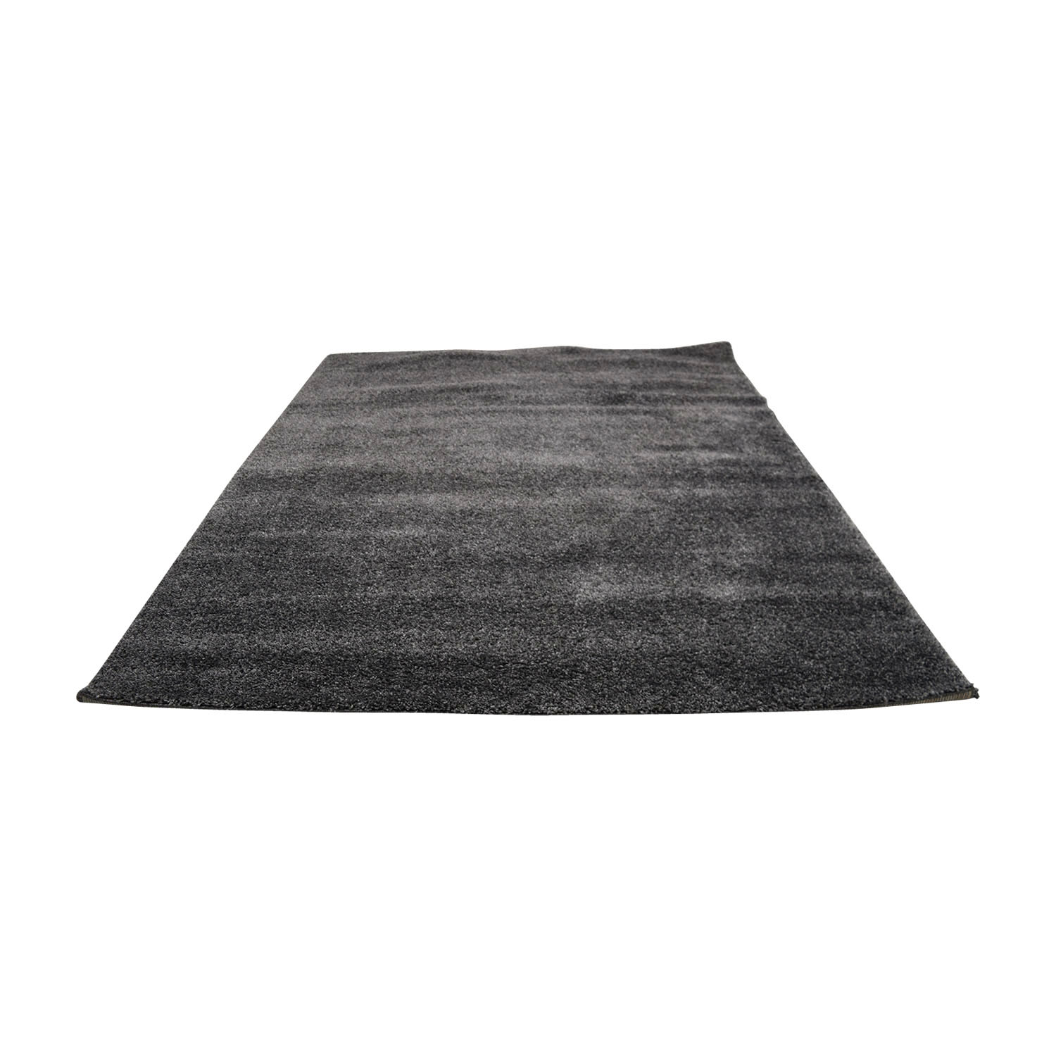 Braided Dark Gray Rectangle Rug on sale