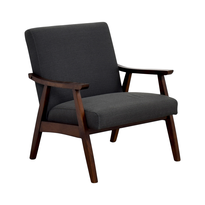 shop Coral Springs Dark Gray Side Chair Coral Springs