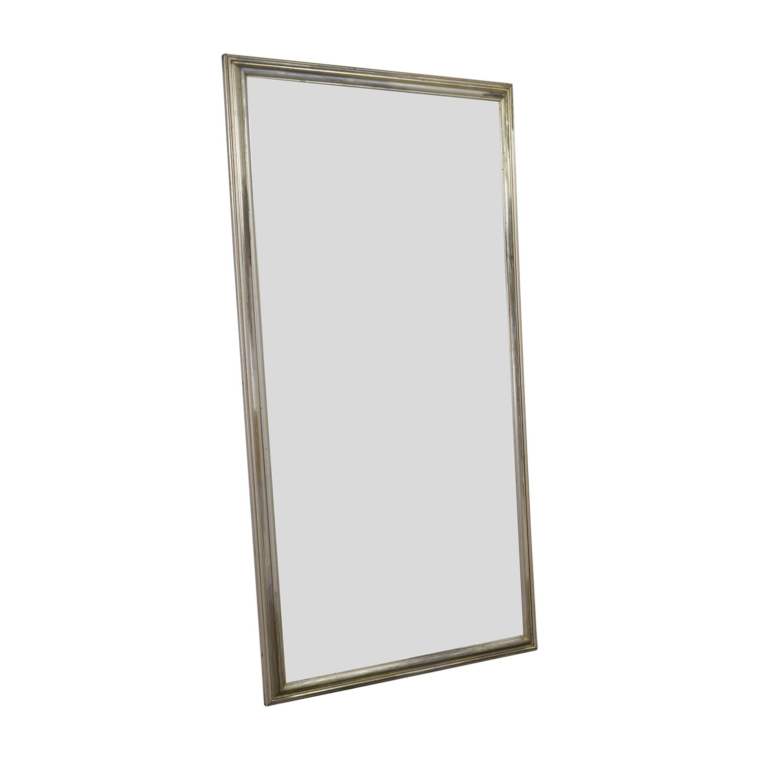 Silver Leaf Frame Wall Mirror discount