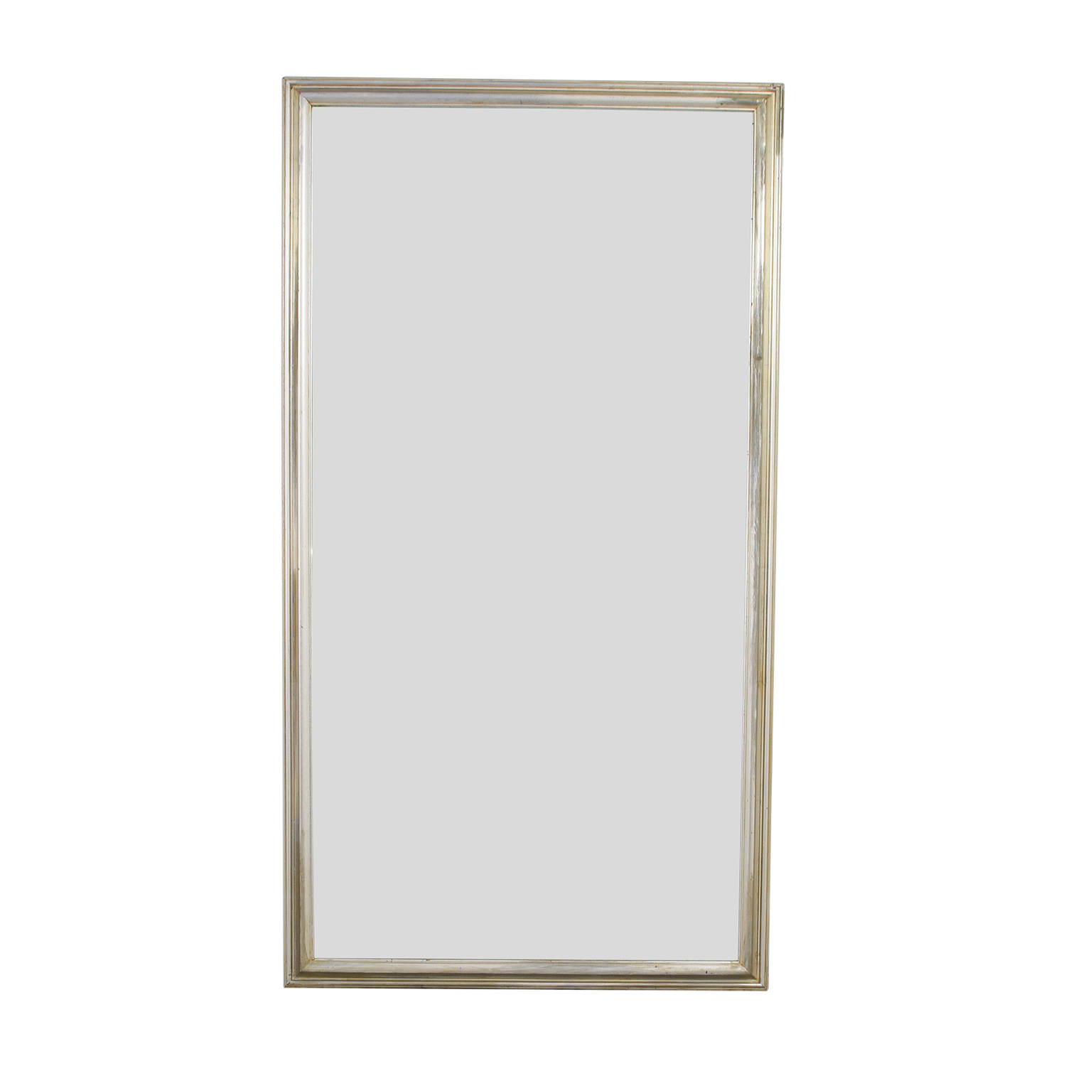Silver Leaf Frame Wall Mirror used