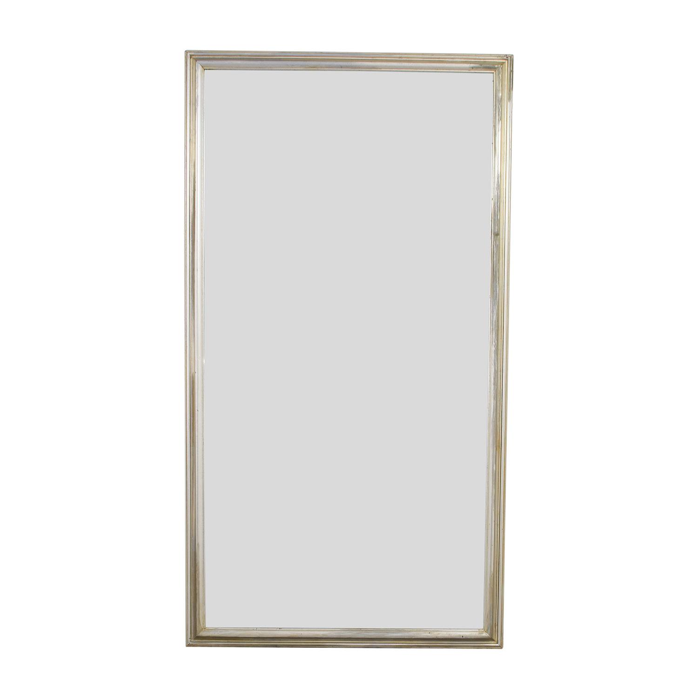 Silver Leaf Frame Wall Mirror second hand
