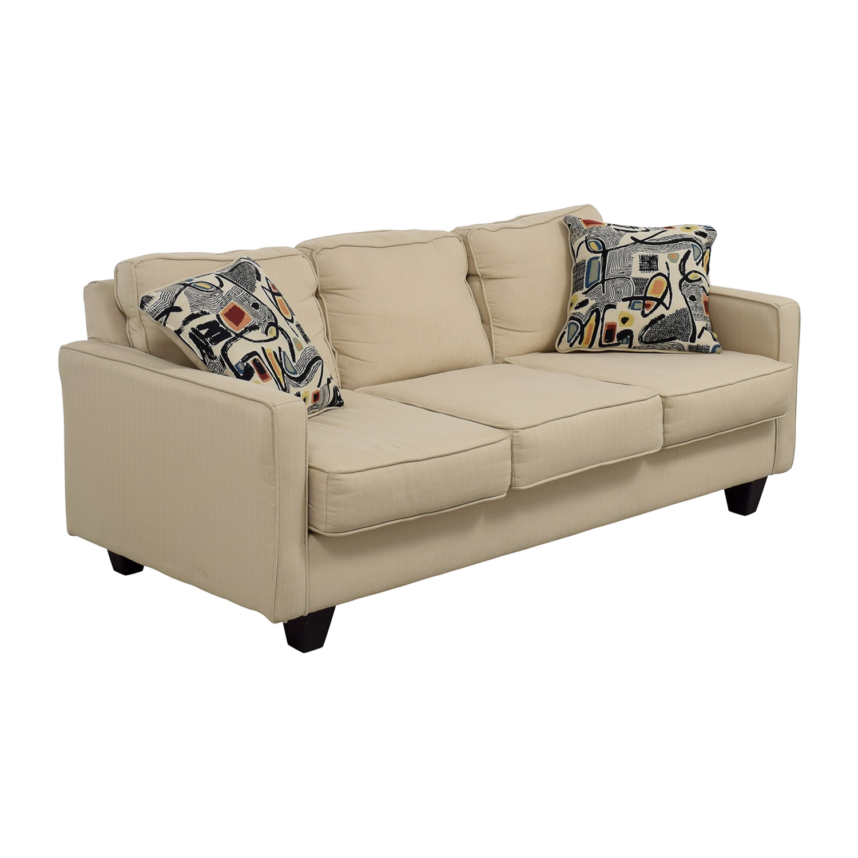 ... Shop Serta Tan Three Cushion Sofa Serta ...