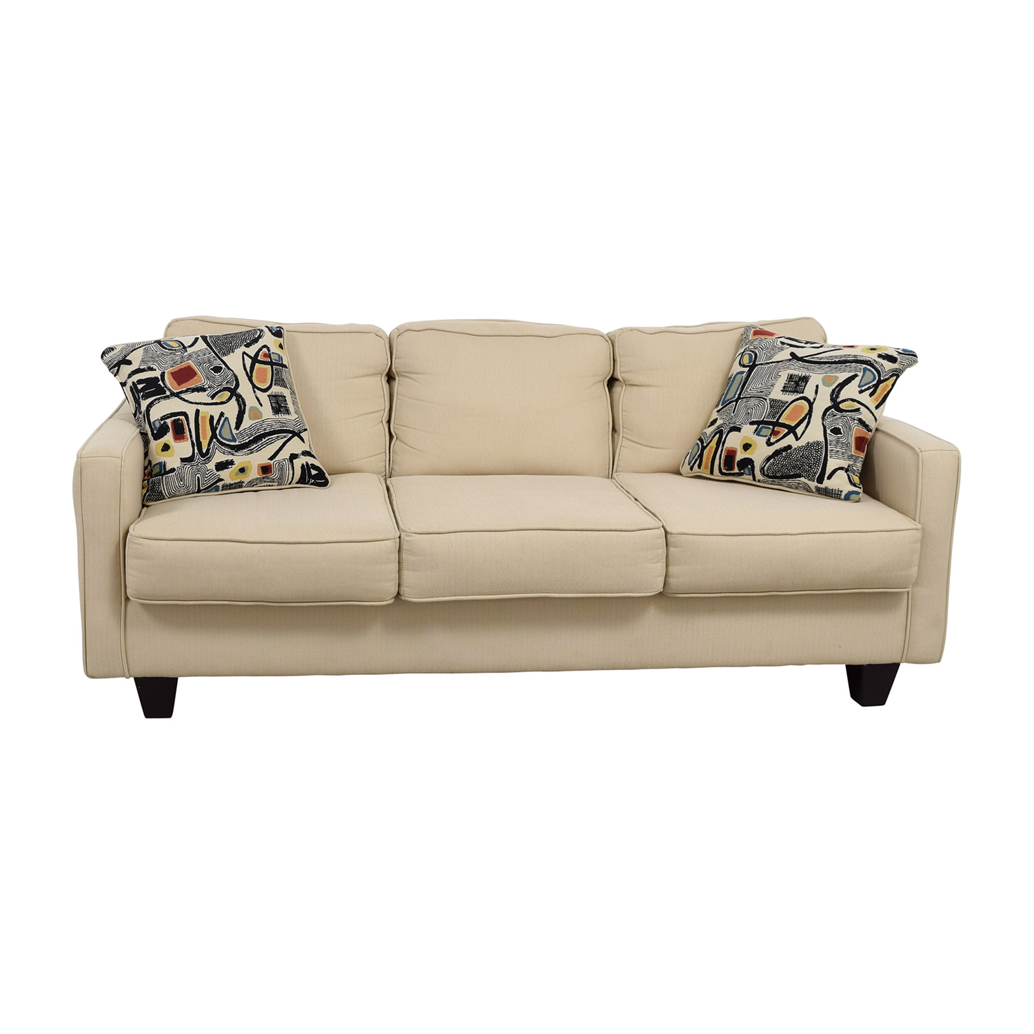 Serta Serta Tan Three-Cushion Sofa second hand