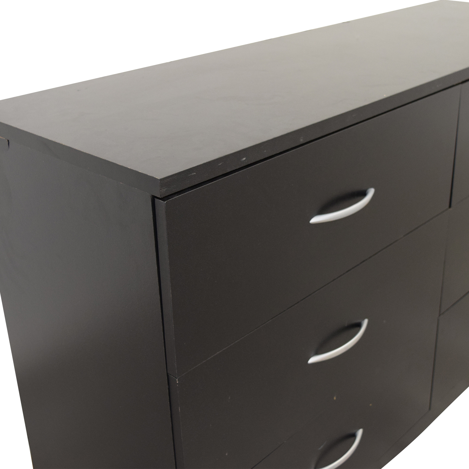 shop South Shore Mukka Black Six-Drawer Dresser South Shore Dressers