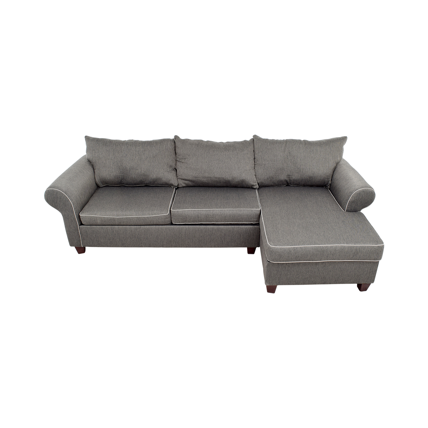 Bobs Furniture Bobs Furniture Grey Chaise Sectional used