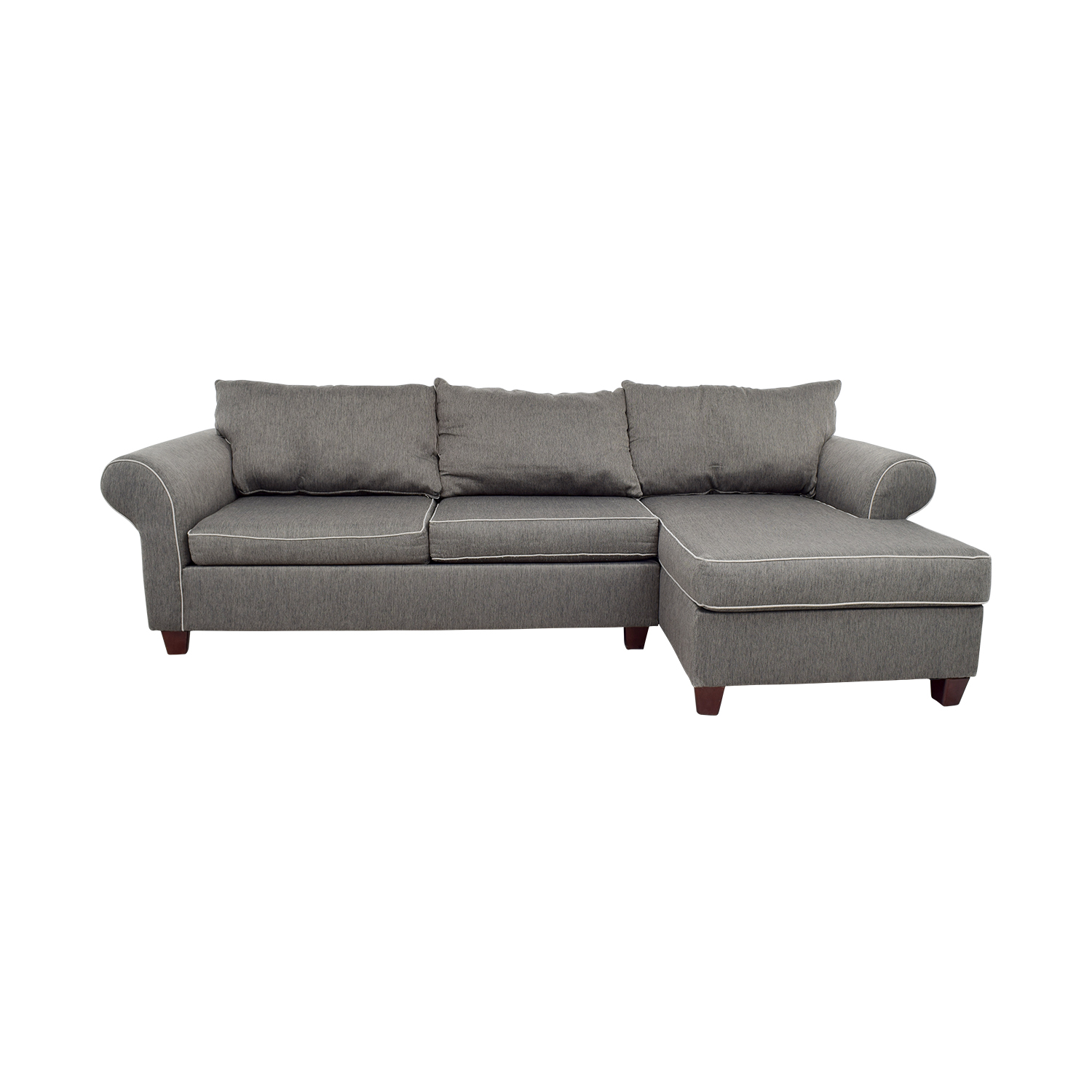 Bobs Furniture Bobs Furniture Grey Chaise Sectional Sofas