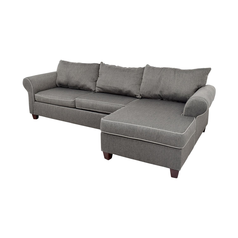 58 Off Bob S Furniture Bob S Furniture Grey Chaise