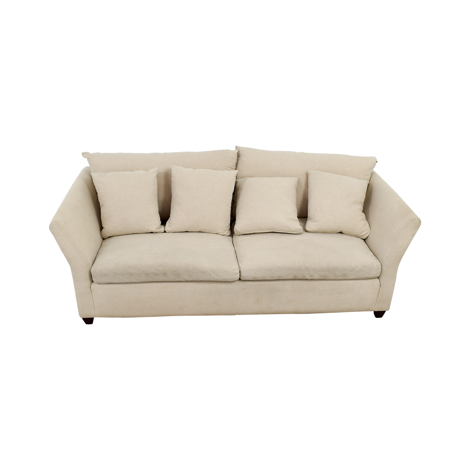 ABC Carpet & Home ABC Carpet & Home Beige Sofa with Pillows on sale