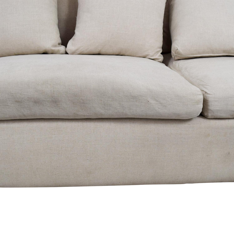 ... Shop ABC Carpet U0026 Home Beige Sofa With Pillows ABC Carpet U0026 ...