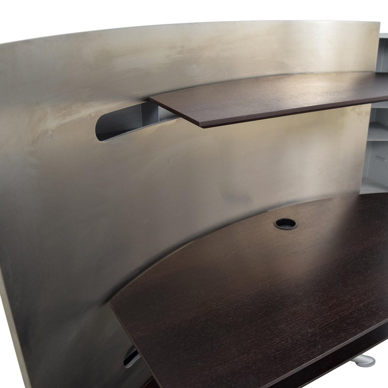 72 OFF Kasala Kasala Orbiter Silver Desk Tables