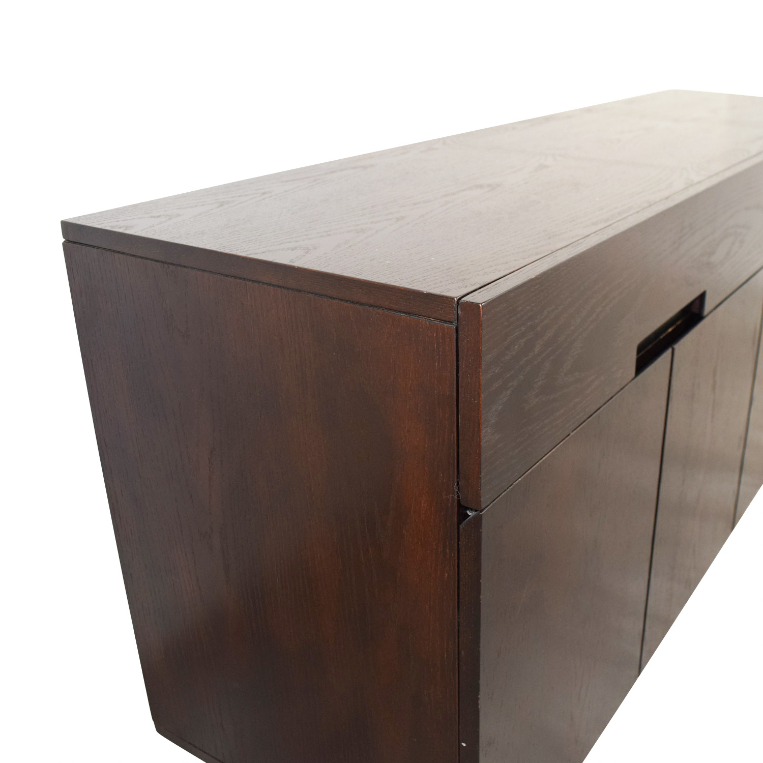 shop Wood Buffet Bar with Two-Drawers and Two Storage Areas Storage