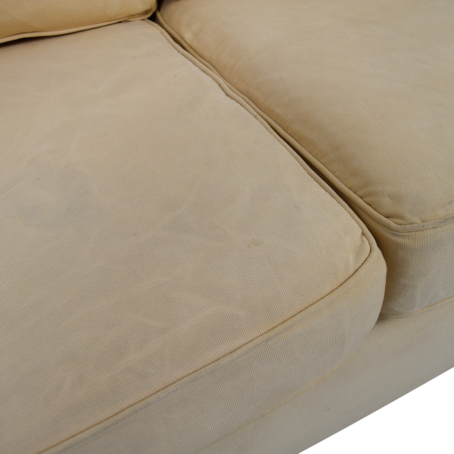Pottery Barn Pottery Barn Tan Three-Cushion Sofa dimensions