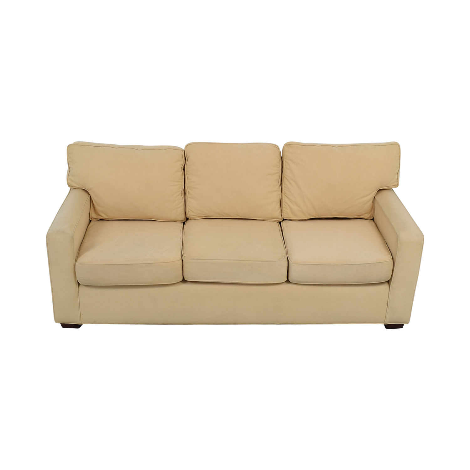 buy Pottery Barn Pottery Barn Tan Three-Cushion Sofa online