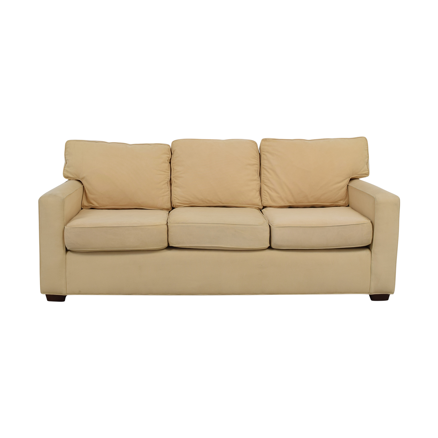 shop Pottery Barn Pottery Barn Tan Three-Cushion Sofa online