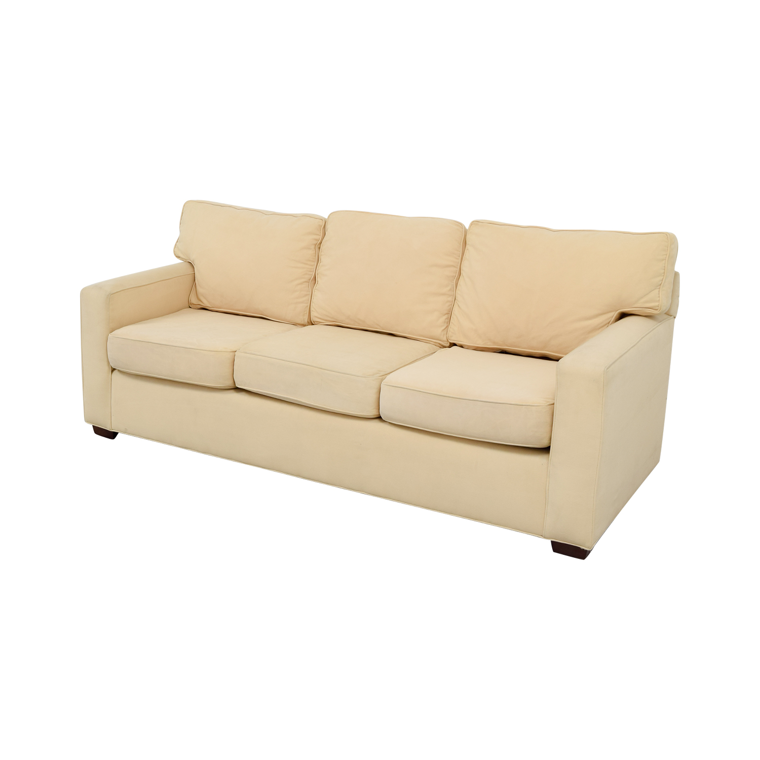 Pottery Barn Tan Three-Cushion Sofa / Sofas