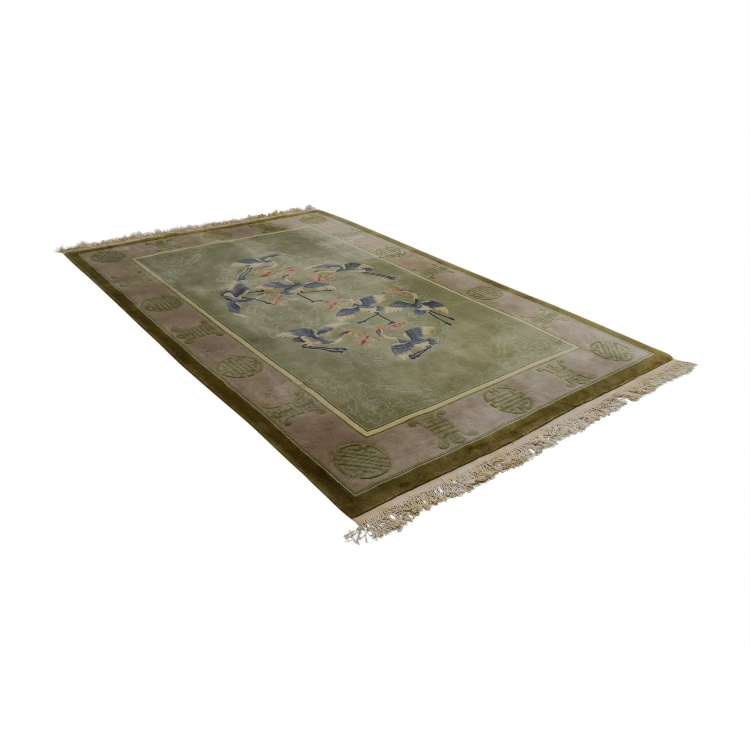 Asian Green Stork Rug coupon