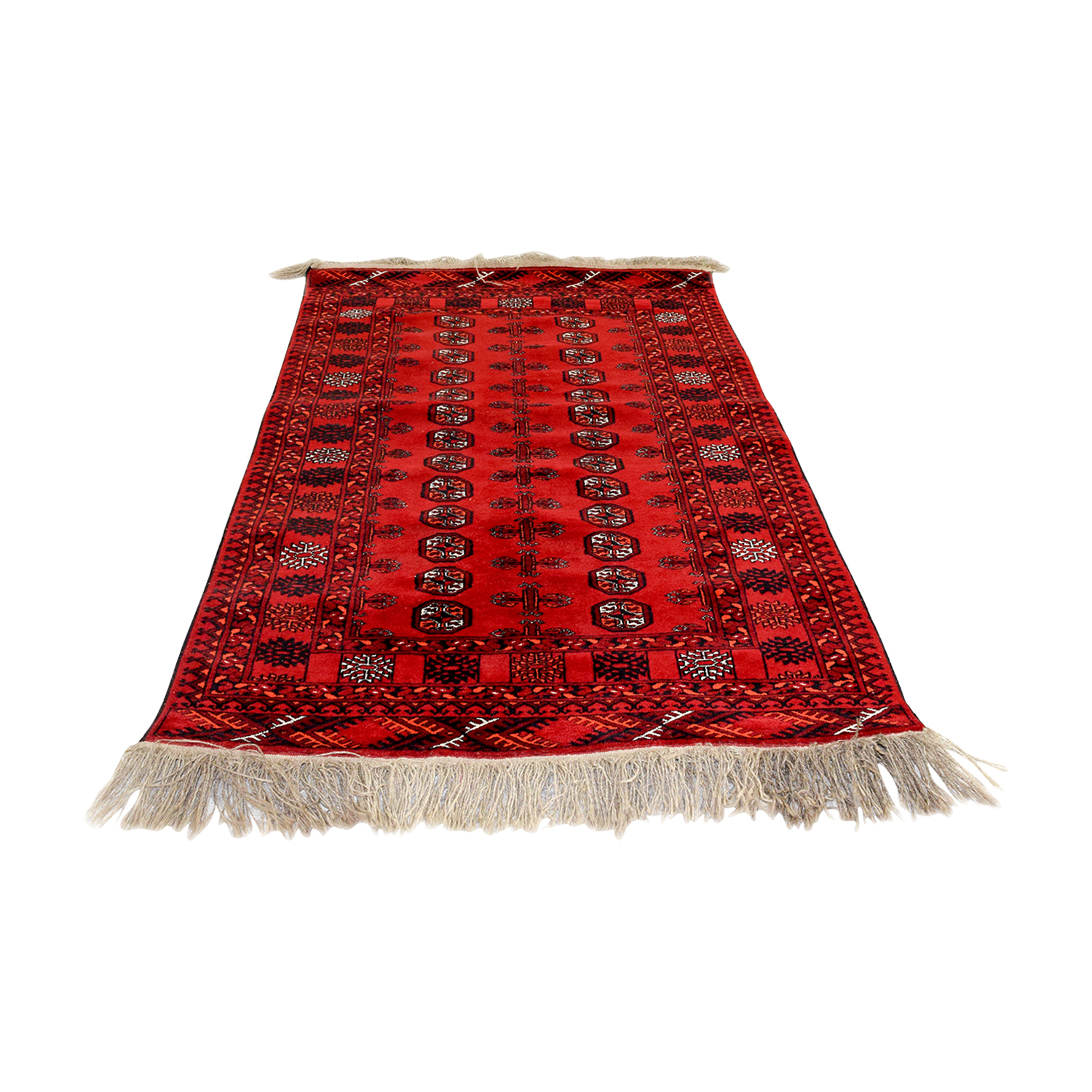 Red Black and White Runner Rug coupon