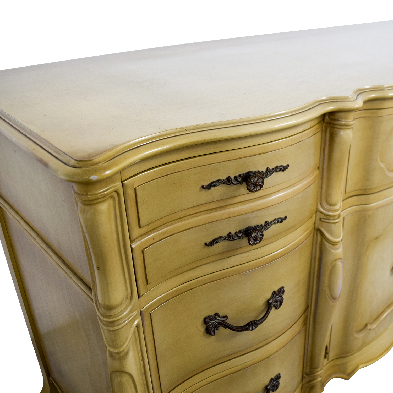 shop Vintage Mid-Century Butter Nine-Drawer Dresser Storage