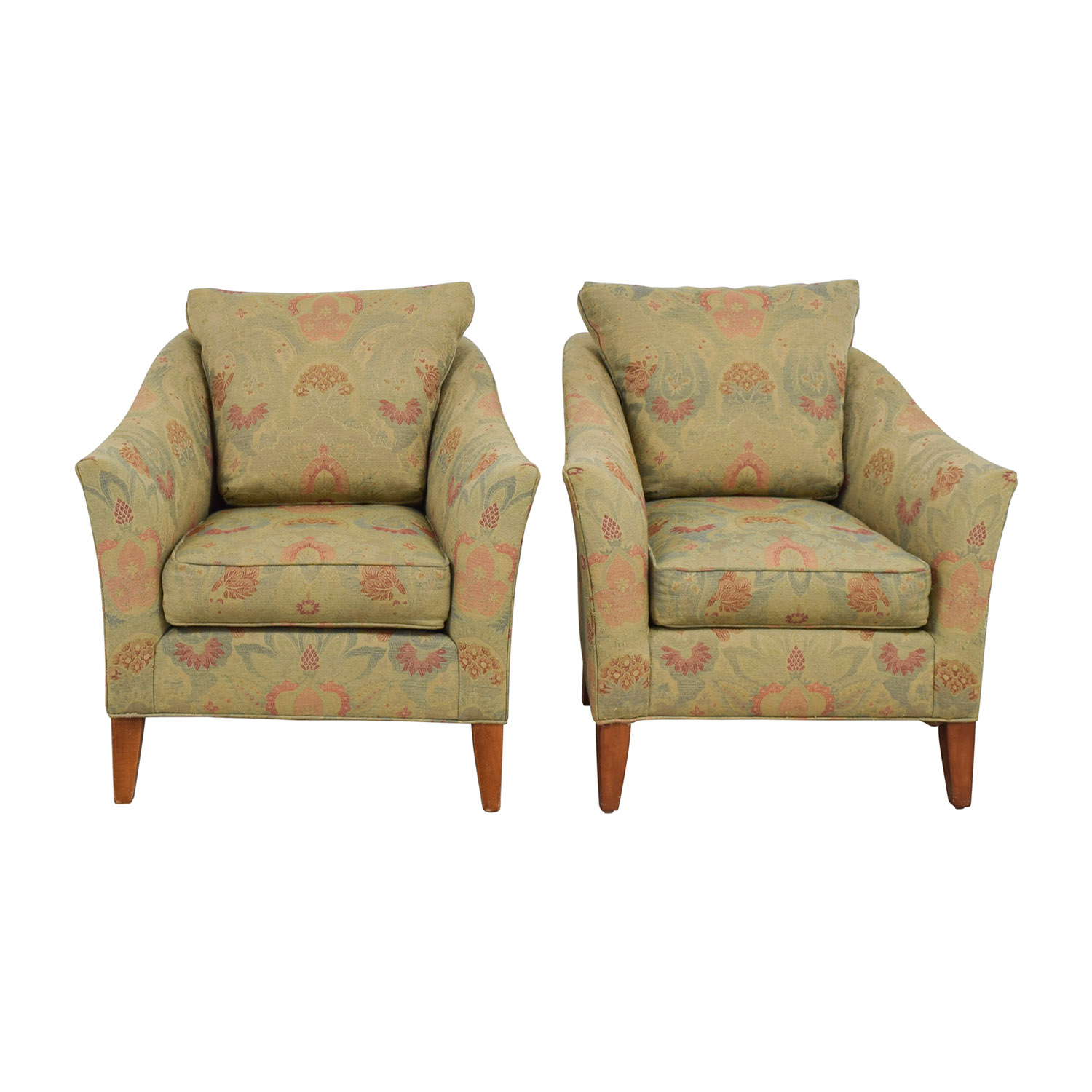 Ethan Allen Ethan Allen Gibson Floral Chairs dimensions