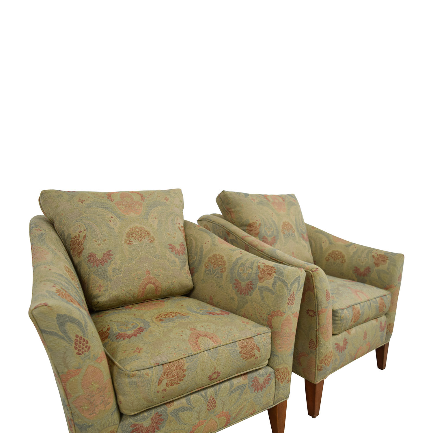 90 Off Ethan Allen Ethan Allen Gibson Floral Chairs