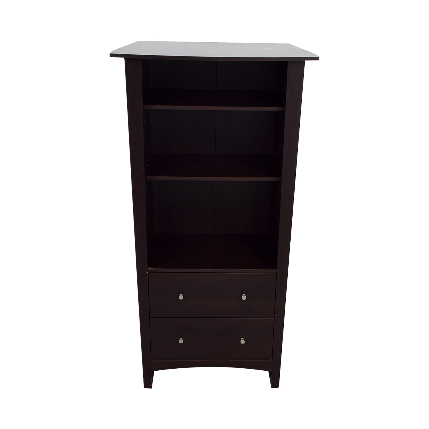 shop Bookcase with Two Drawers Storage