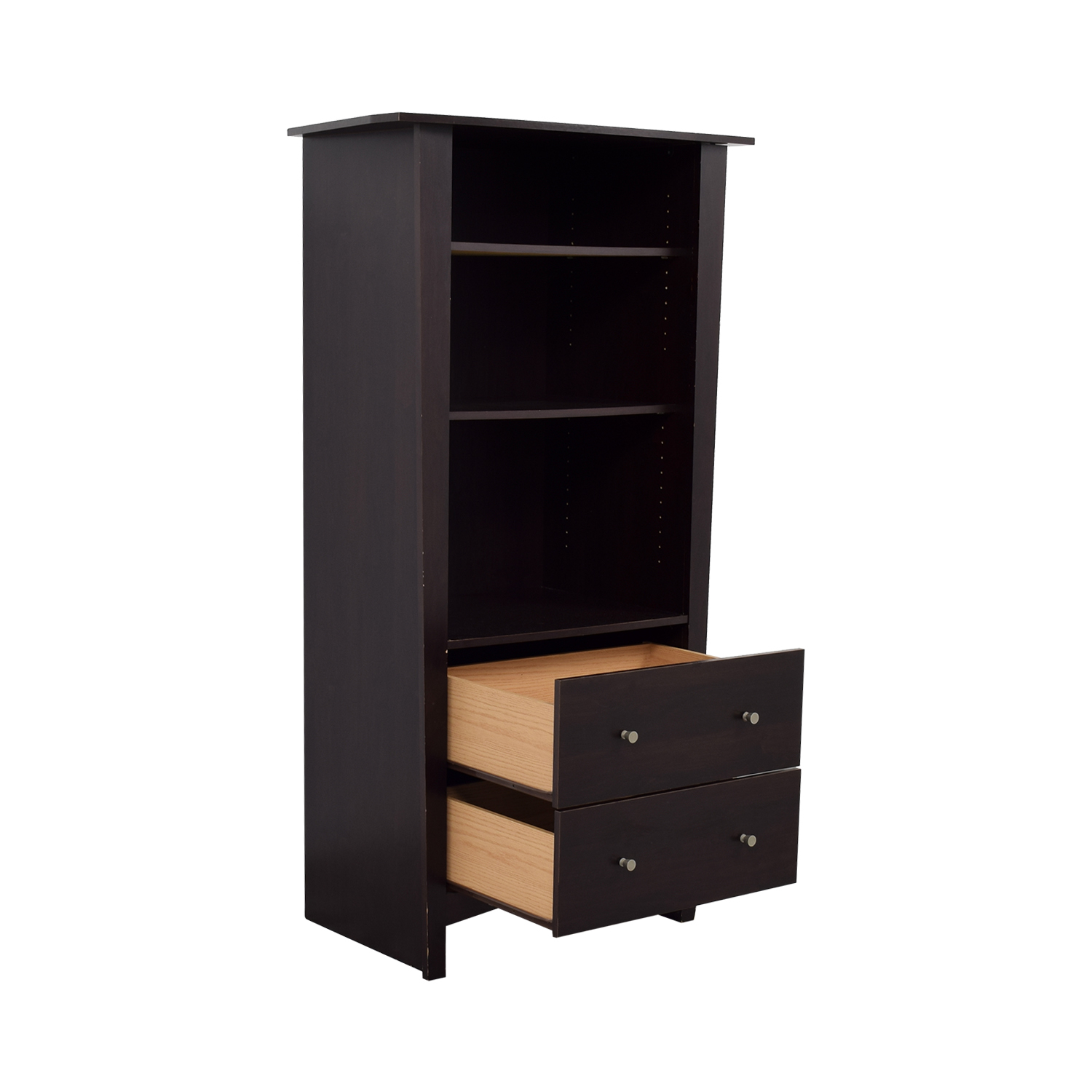 shop Bookcase with Two Drawers Bookcases & Shelving
