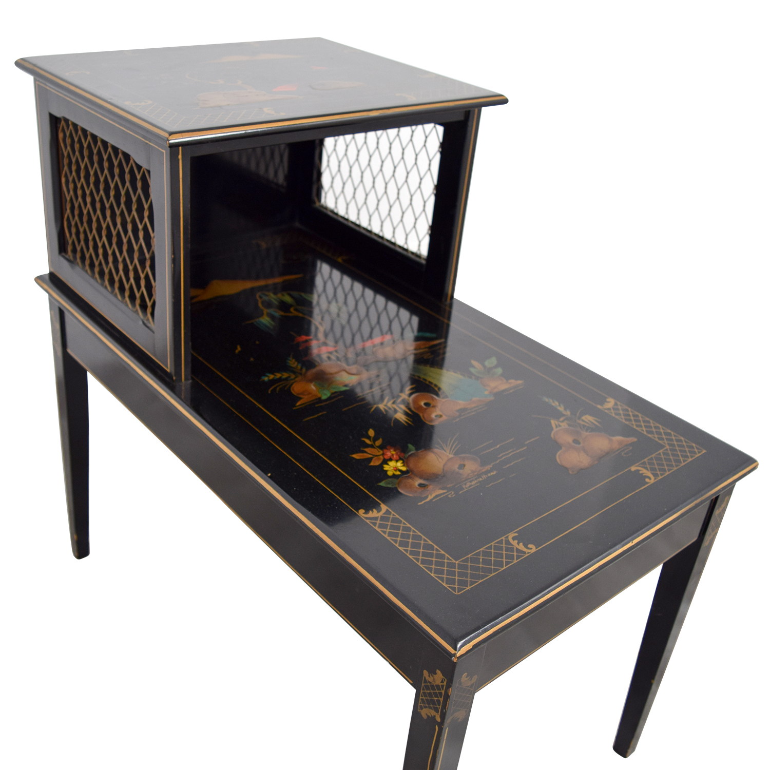 Katherine Henick Antique Katherine Henick Painted End Table on sale