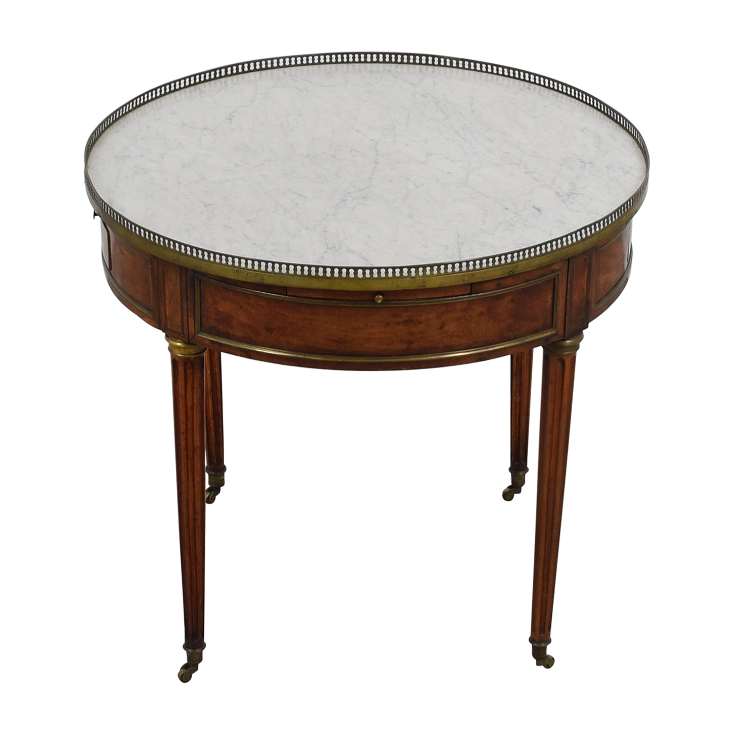 42% OFF Lotus Lotus Round Grey Marble Table Tables