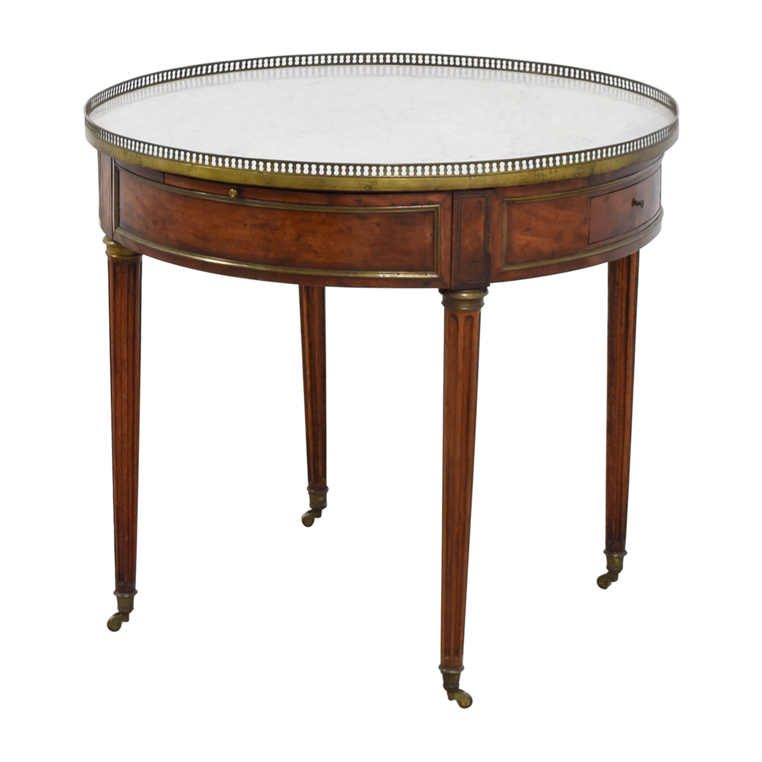 Antique Round Table with Marble Top dimensions