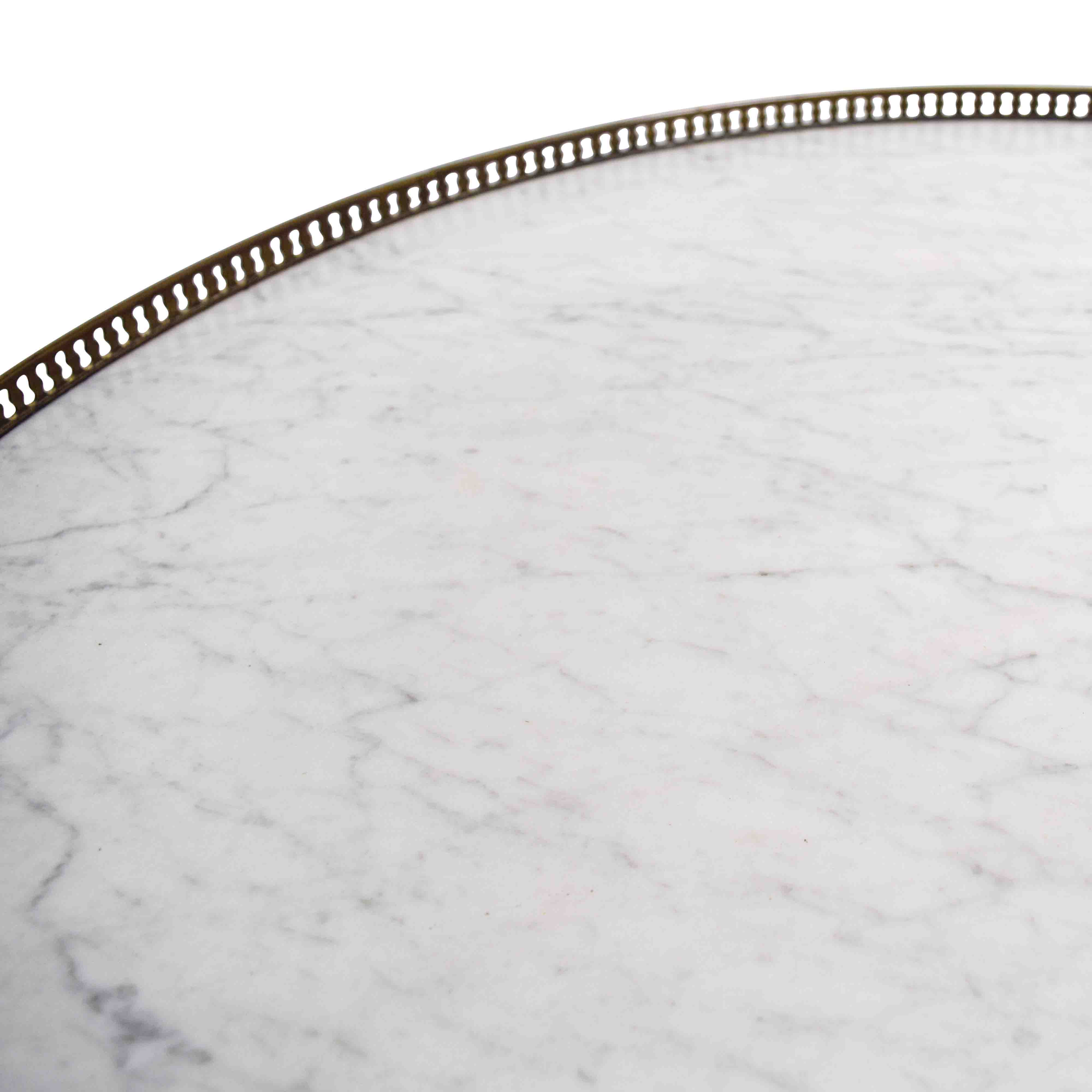 buy Antique Round Table with Marble Top online