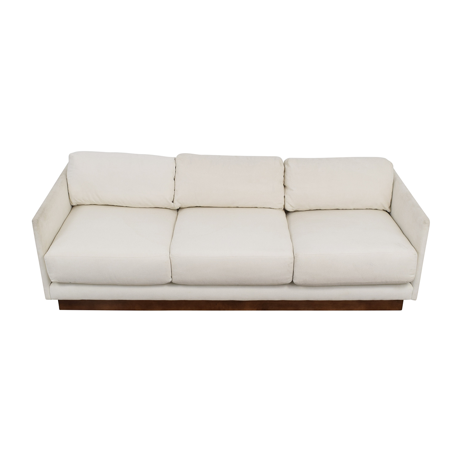 shop Mitchell Gold & Bob Williams White Three-Cushion Sofa Mitchell Gold & Bob Williams