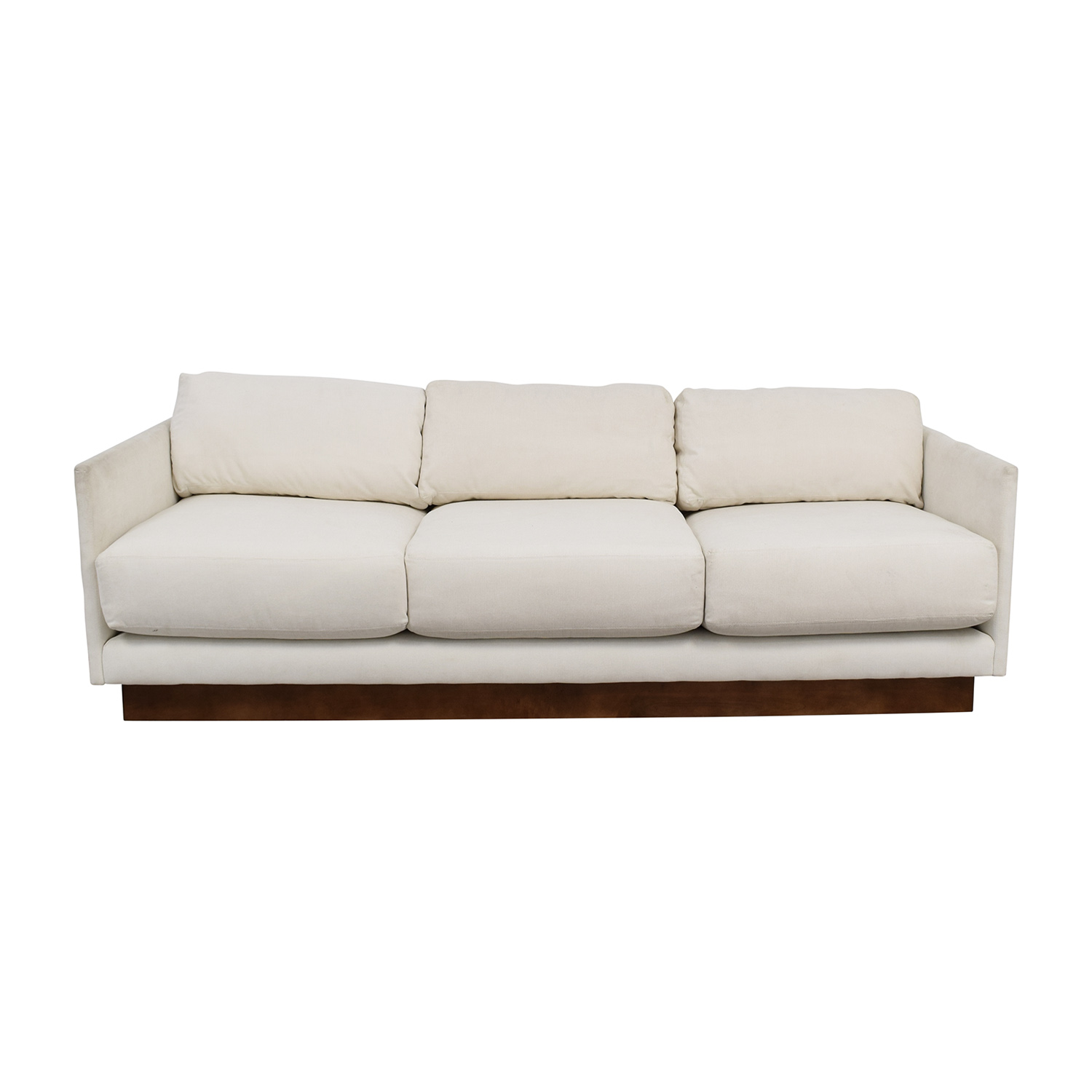buy Mitchell Gold & Bob Williams White Three-Cushion Sofa Mitchell Gold & Bob Williams Sofas