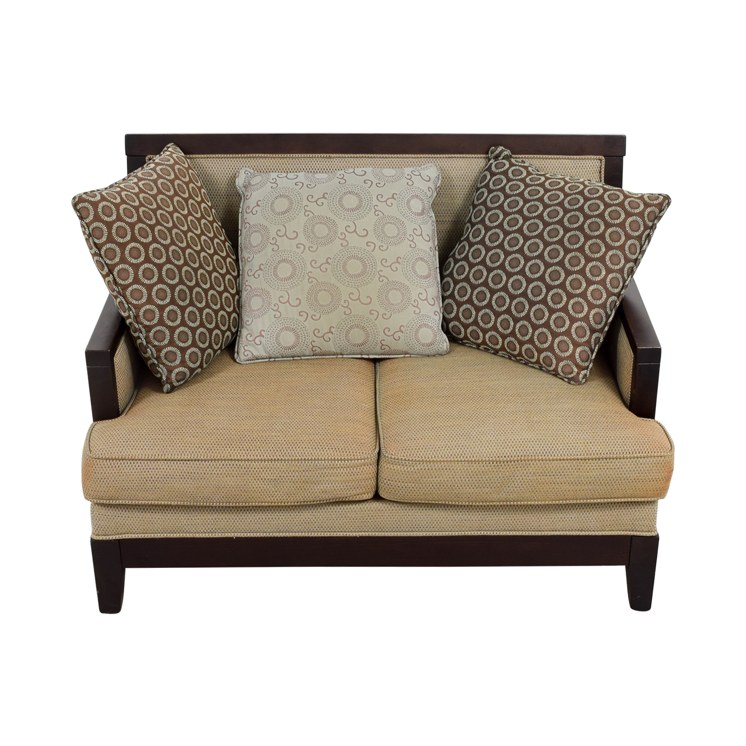 of cherry radar inspirations chenille legs plastic mocha with wood set image frame sofa loveseat