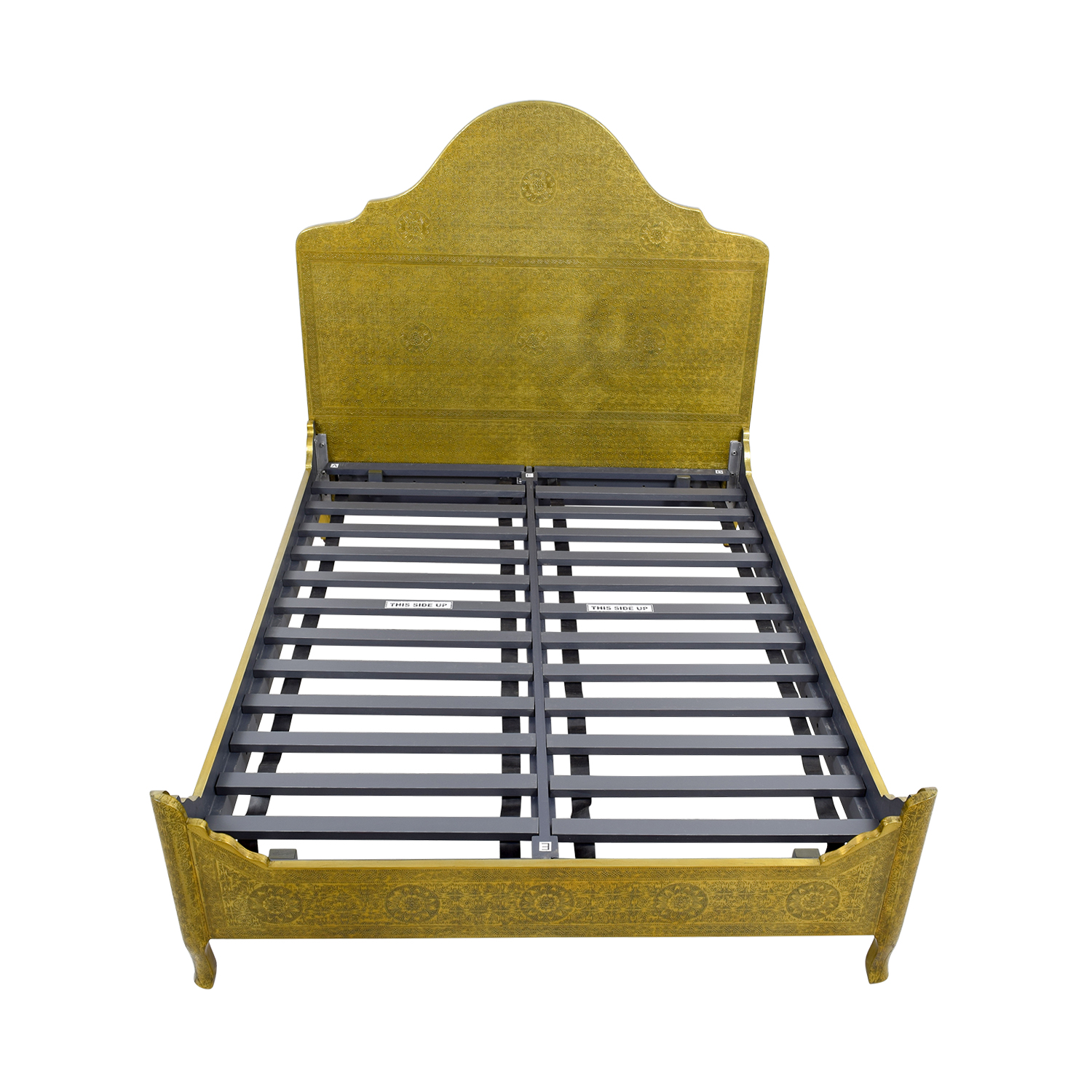 buy Anthropologie Brass Hand Tooled Queen Bed Anthropologie