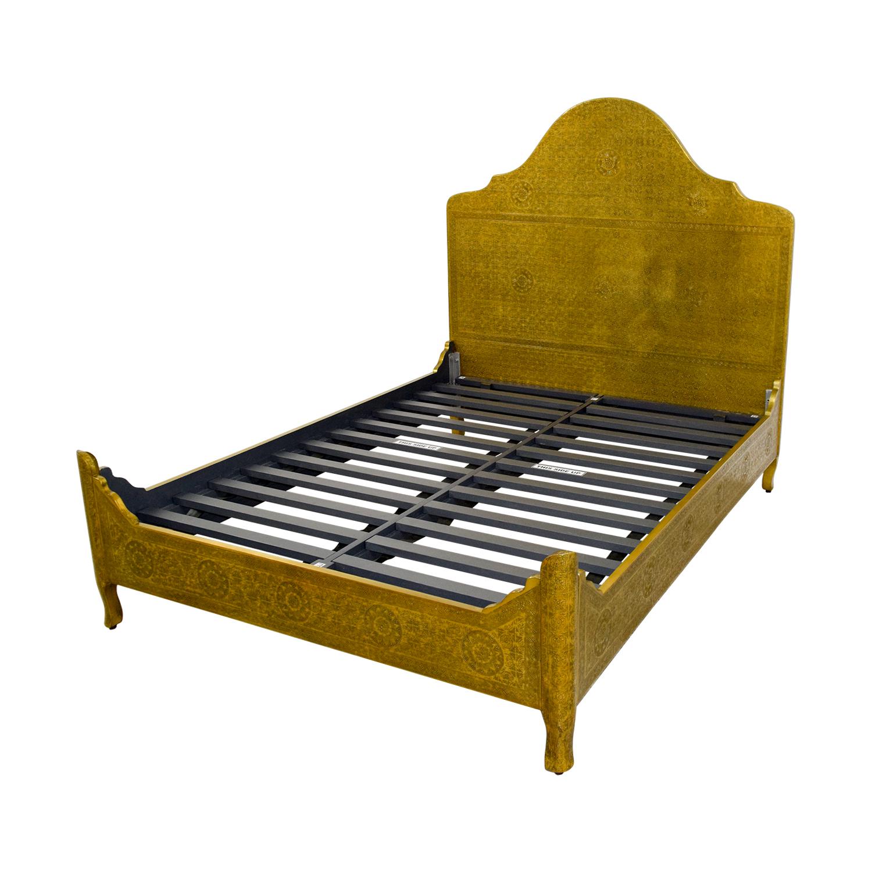 shop Anthropologie Anthropologie Brass Hand Tooled Queen Bed online