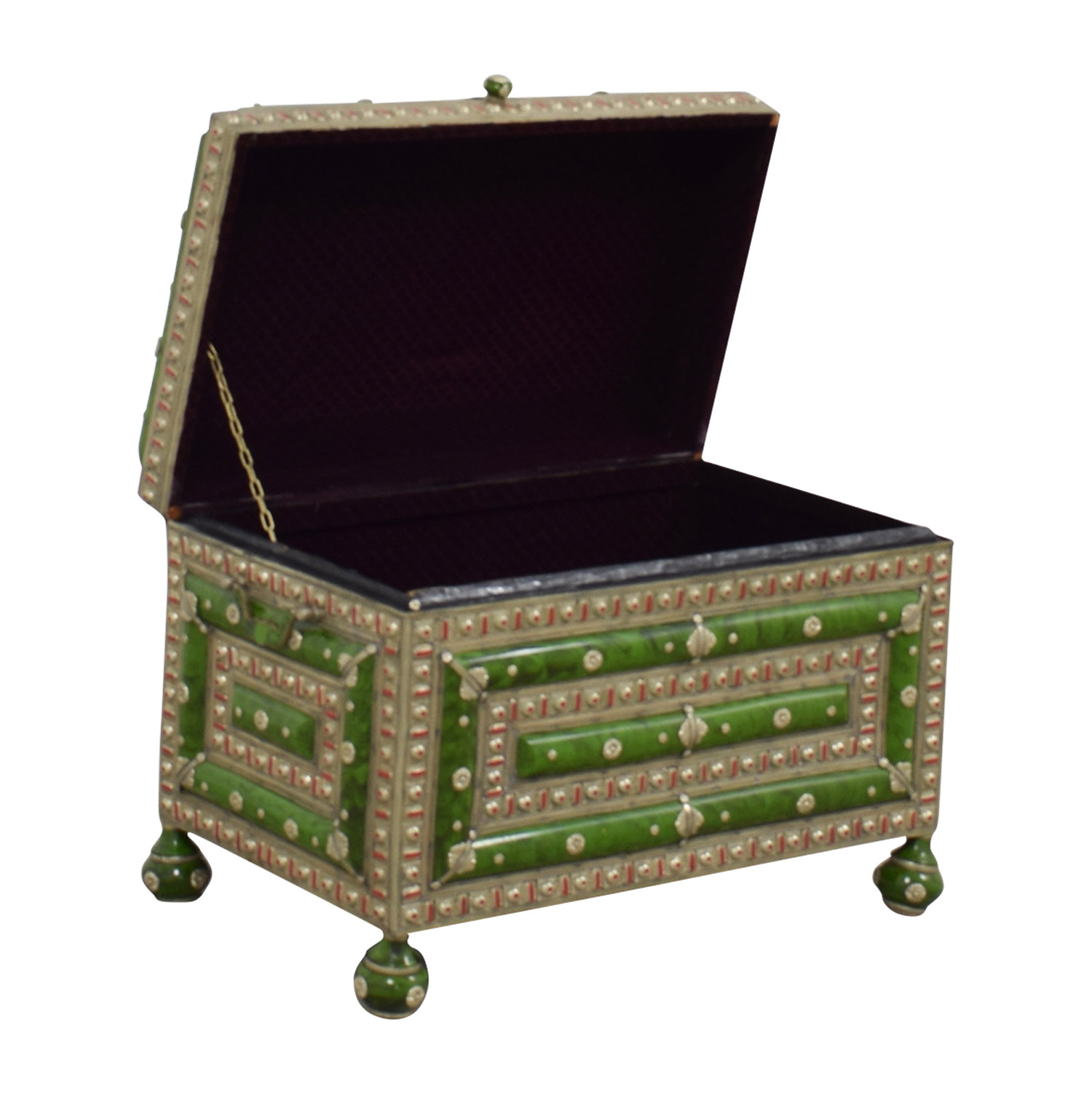 Antique Morroccan Precious Jewel Trunk and Table sale