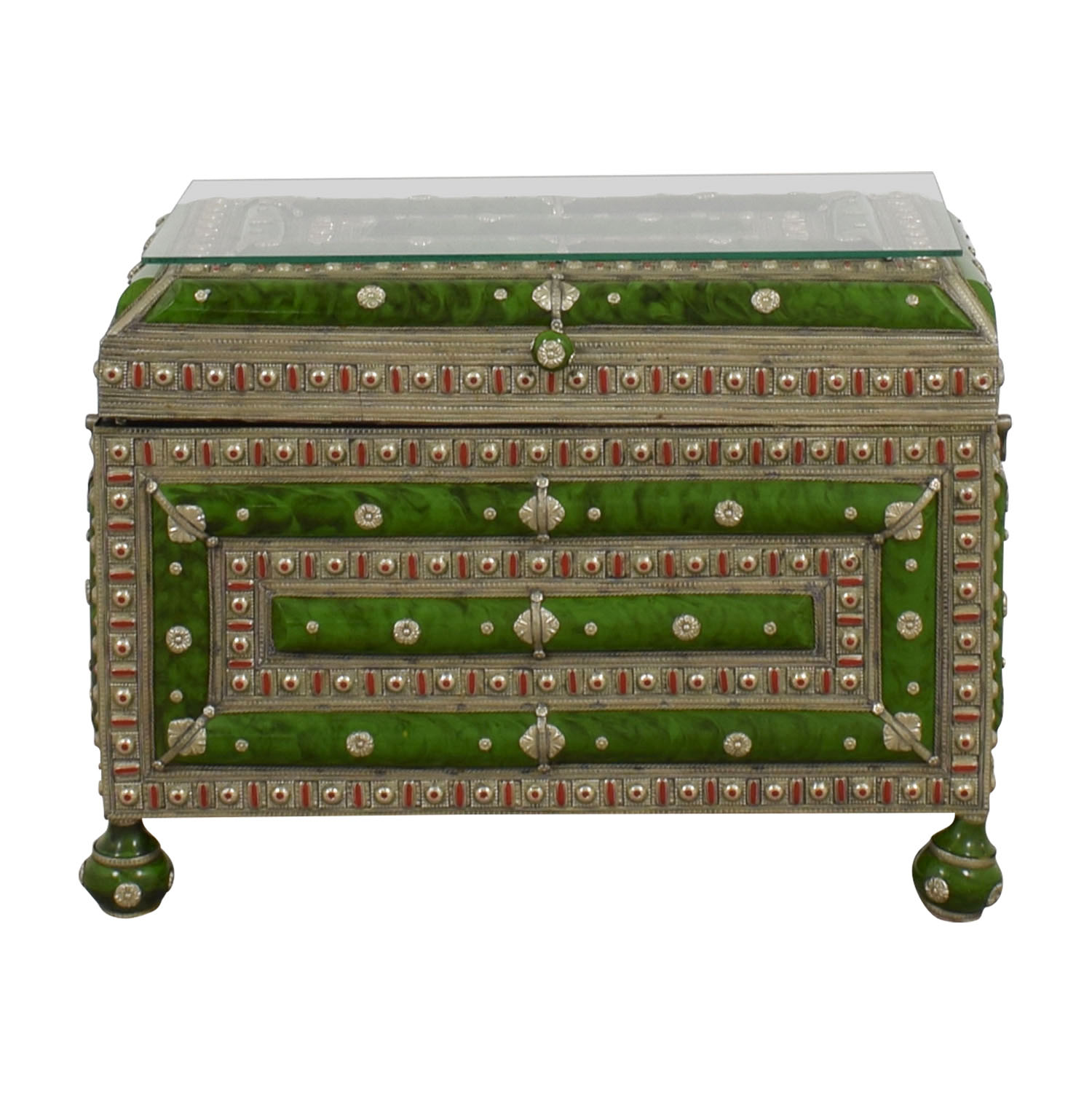 Antique Morroccan Precious Jewel Trunk and Table coupon