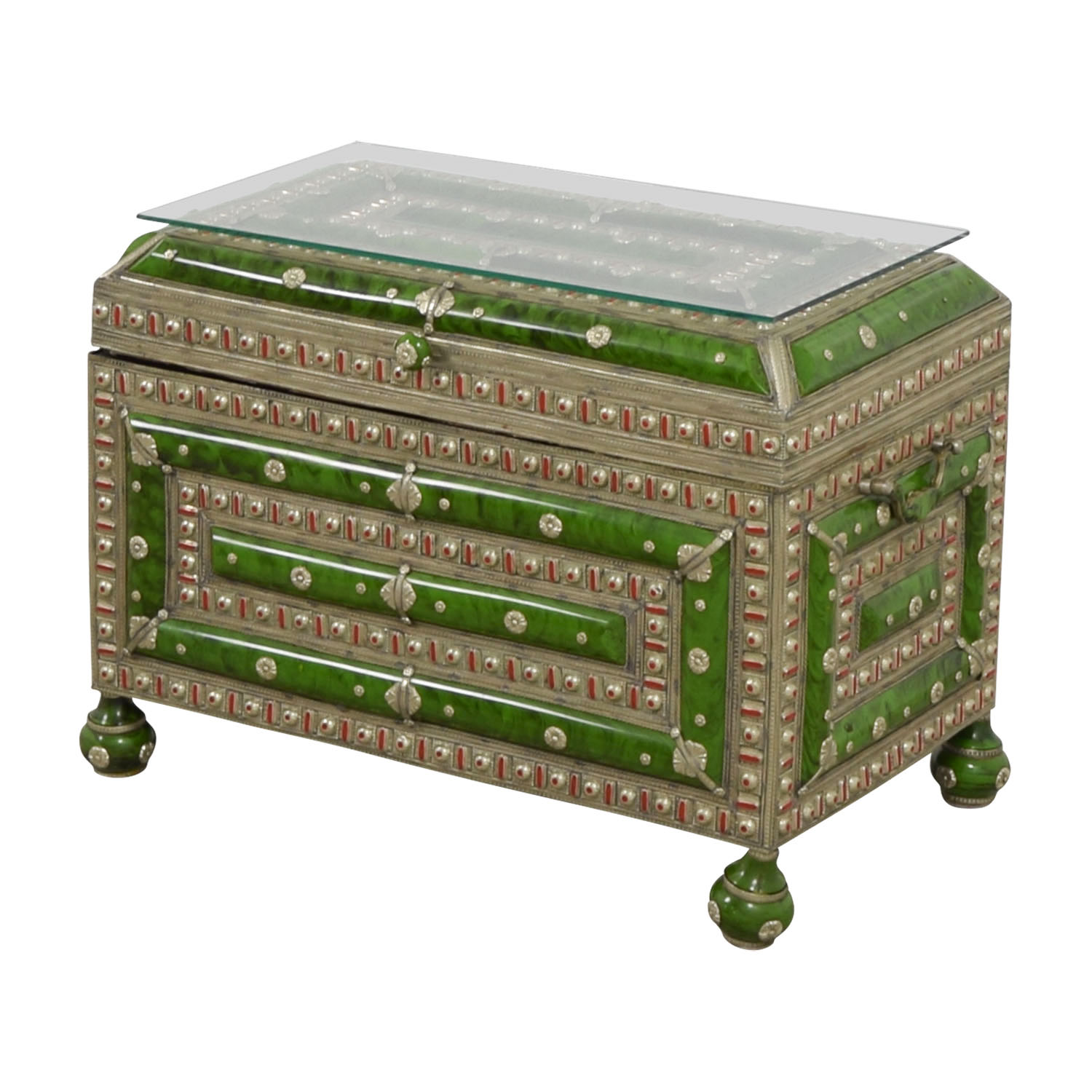 Antique Morroccan Precious Jewel Trunk and Table discount