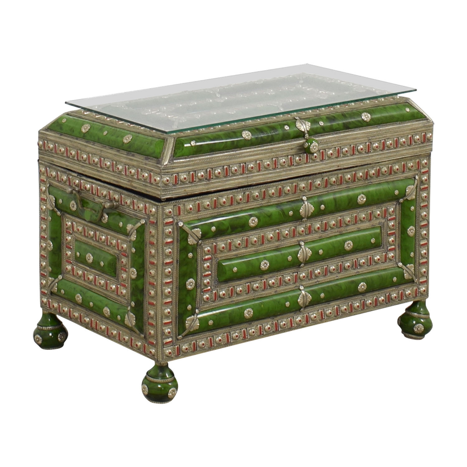 buy Antique Morroccan Precious Jewel Trunk and Table Storage