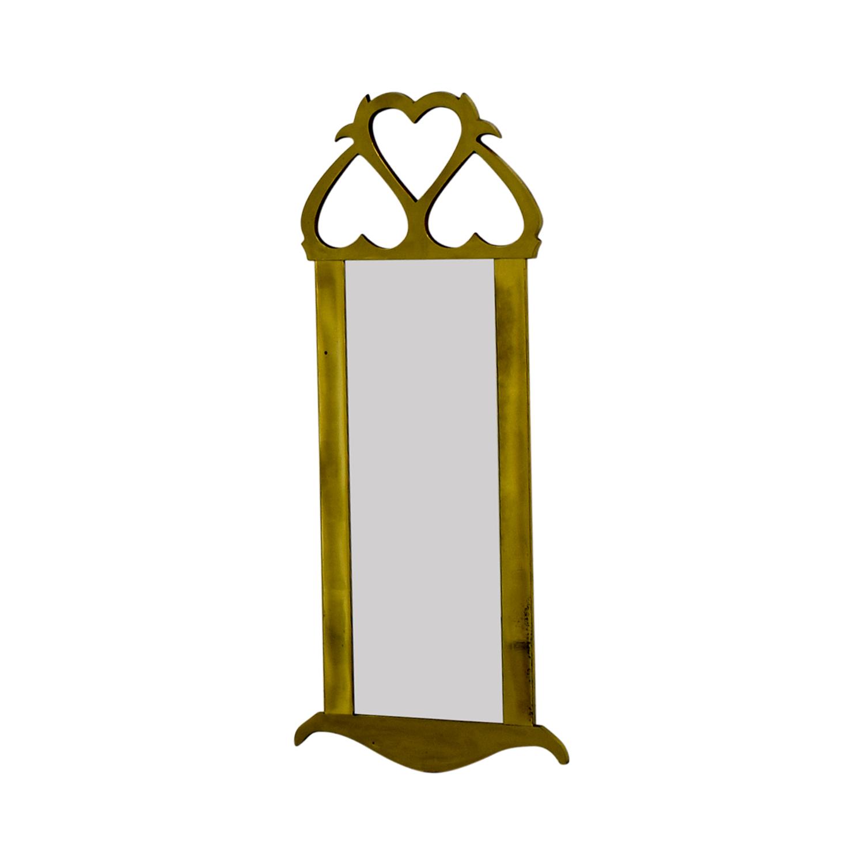 shop Mid Century Brass Wall Mirror Decor