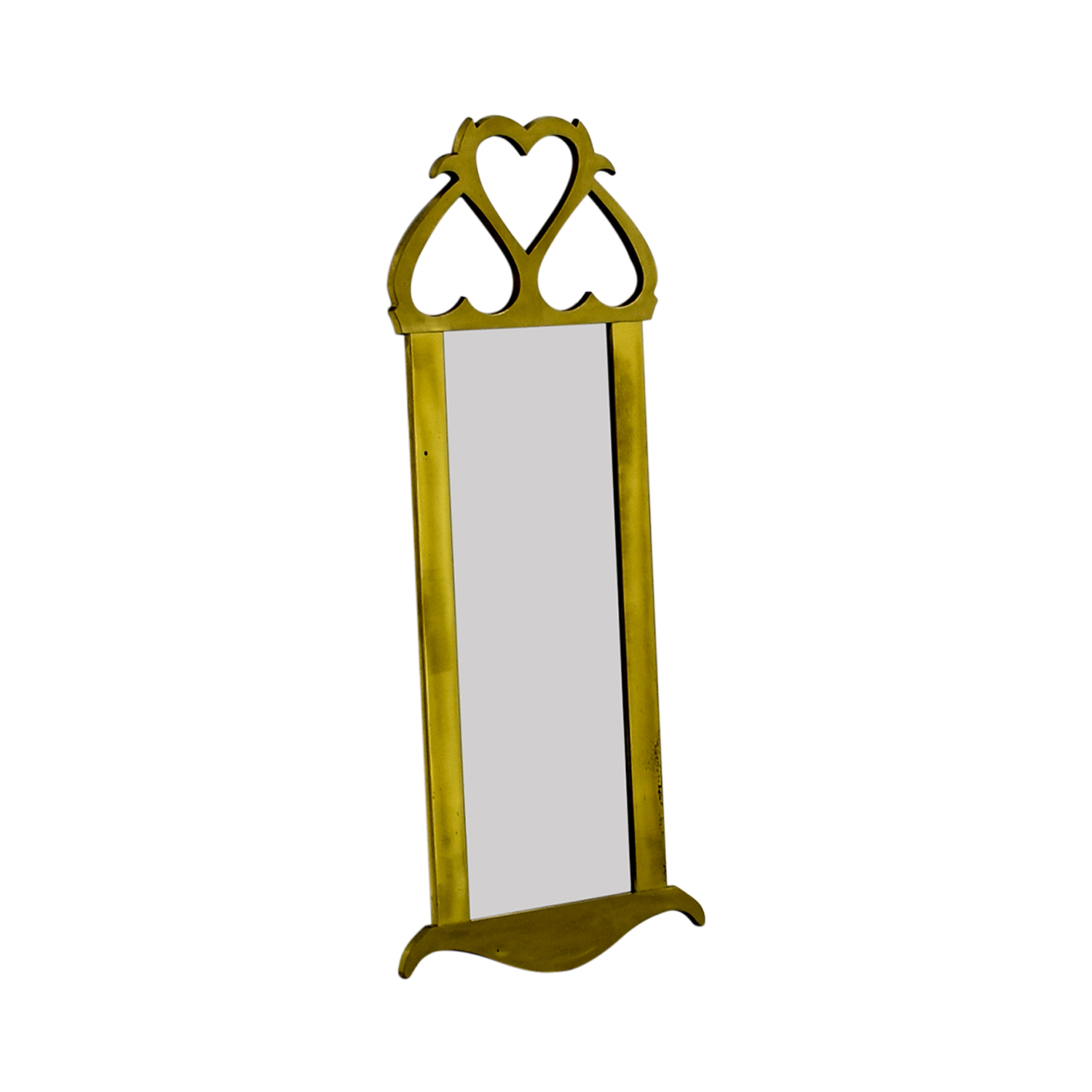 Mid Century Brass Wall Mirror second hand