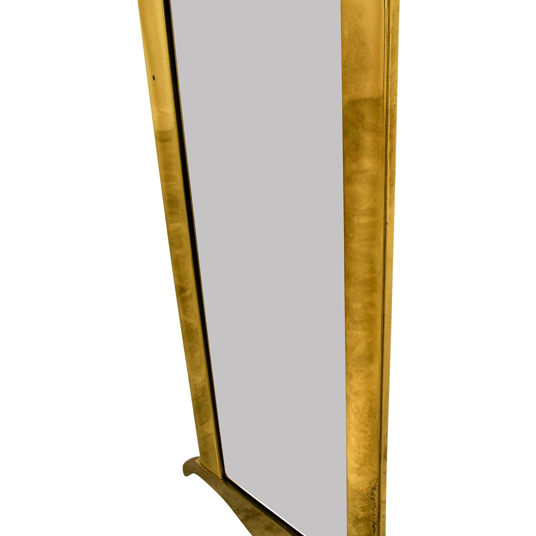 Mid Century Brass Wall Mirror nj