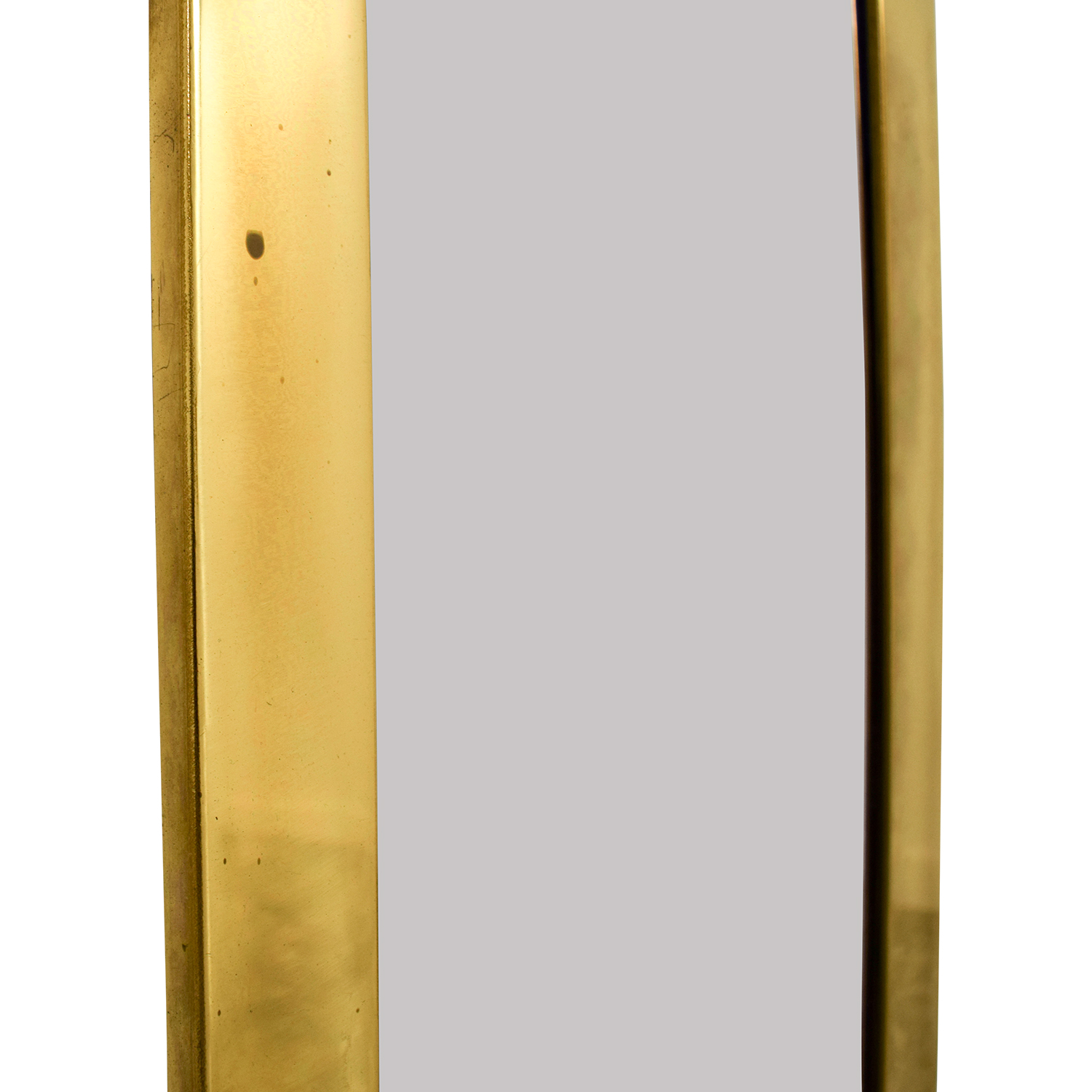 Mid Century Brass Wall Mirror