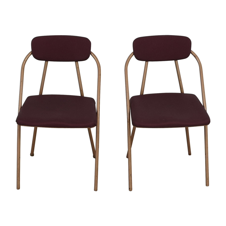 1960s Purple Folding Metal Chairs